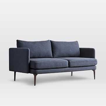 "Auburn Sofa 70"", Twill, Black Indigo, Dark Mineral - West Elm"