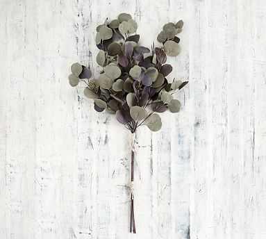 Faux Eucalyptus Branch Bundle, Purple/Green, One - Pottery Barn