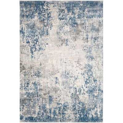 Hobert Abstract Gray/Blue Area Rug - Wayfair