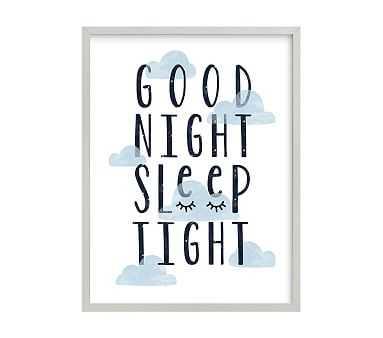 Good Night Wall Art by Minted(R), Gray, 18x24 - Pottery Barn Kids