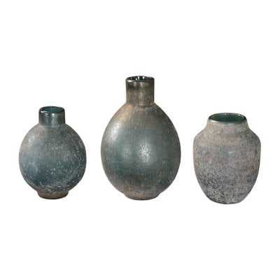 Weathered 3 Piece Table Vase Set - Wayfair