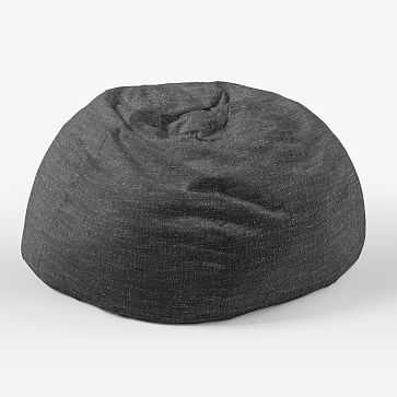 """Bean Bag Collection 42"""" Cover + Insert, Heathered Tweed, Charcoal - West Elm"""