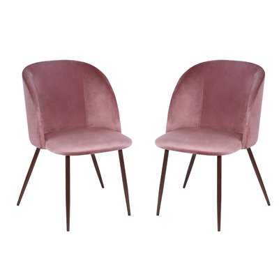 Aadhya Upholstered Dining Chair Set of 2 - Wayfair
