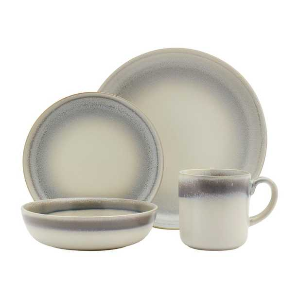 Tabletops Gallery 16-Piece Hudson Dinnerware Set Classic Stoneware Service for 4, Ivory - Home Depot
