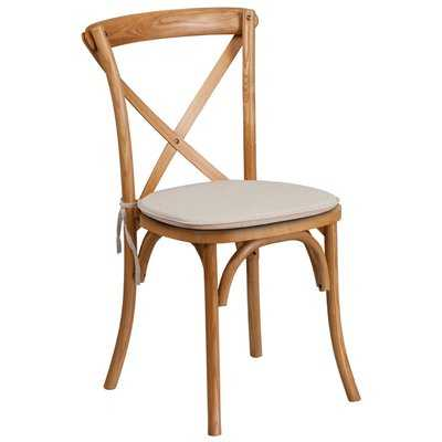 Magpie Early American Cross Back Solid Wood Dining Chair with Cushion - Wayfair