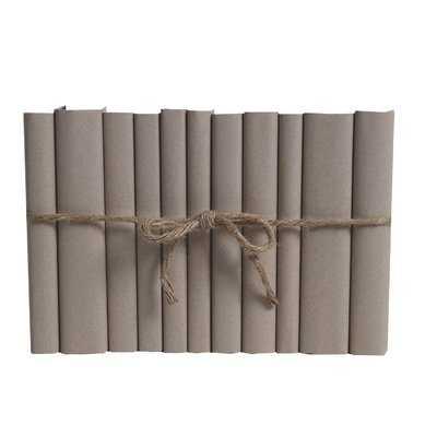 Authentic Decorative Books - By Color Modern Khaki ColorPak (Wrap) (1 Linear Foot, 10-12 Books) - Wayfair