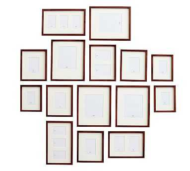 Gallery in a Box, Espresso Stain Frames, Set of 15 - Pottery Barn