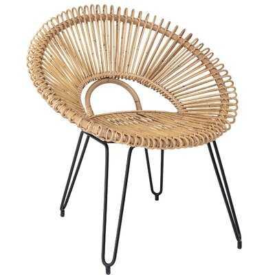 Crissyfield Handwoven Rattan Papasan Chair - Wayfair