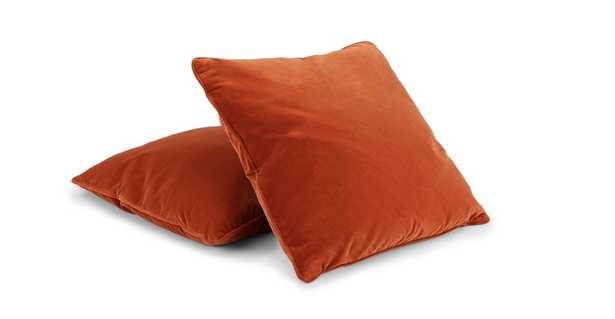 "Lucca Persimmon Orange Pillow Set / 20""x20"" - Article"