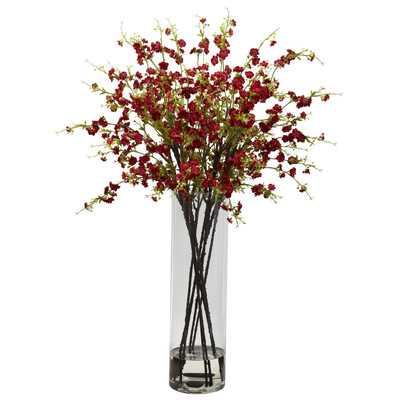 Giant Cherry Blossoms Floral Arrangement in Vase - Birch Lane