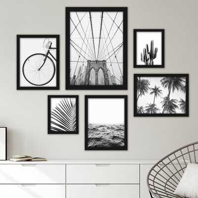 6 Piece Framed Graphic Art Print Set - Wayfair