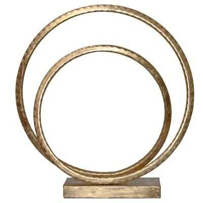 Greenpoint Metal Swirl Abstract on Square Base Sculpture - Wayfair