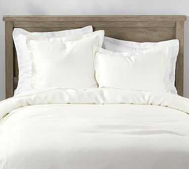 Libeco Belgian Linen Duvet Cover, Full/Queen, White - Pottery Barn