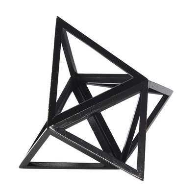 Fruge Elevated Tetrahedron Platonic Sculpture - Wayfair