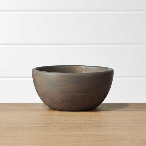 Brooks Grey Wood Bowl - Crate and Barrel
