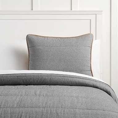 Camden Comforter, Full/Queen, Steel - Pottery Barn Teen