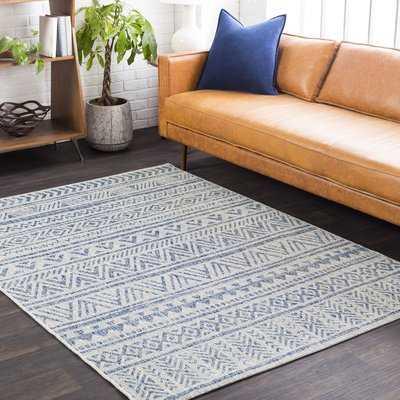 Tomas Global Denim/Light Gray/Dark Blue Indoor/Outdoor Area Rug - Wayfair