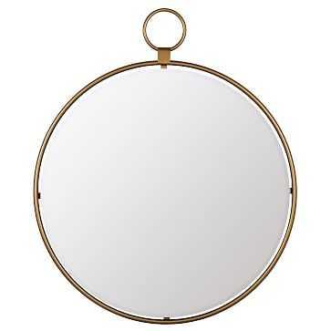"""Round Loop Mirror, 25"""", Gold - West Elm"""