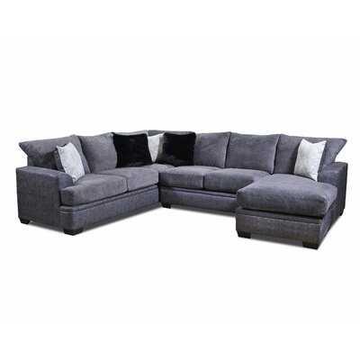 Red Barrel Studio® Streator Sofa Sectional in Graphite - Wayfair
