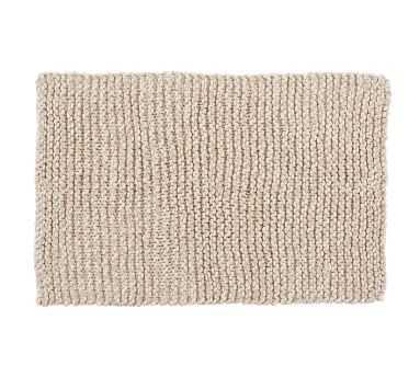"""Chunky Hand-Knit Throw, Neutral, 44"""" x 56"""" - Pottery Barn"""