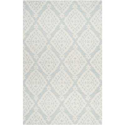 Peltz Hand-Tufted Wool Light Blue/Gray Area Rug - Wayfair