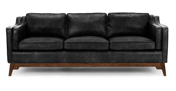 Worthington Oxford Black Sofa - Article