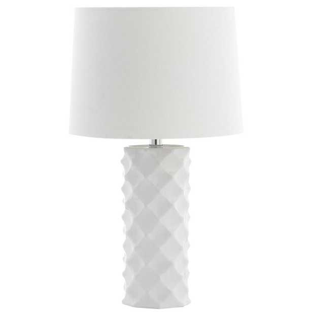 Safavieh Belford 18.5 in. White Table Lamp - Home Depot