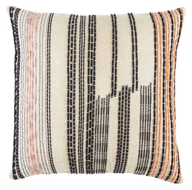 """CNK31 Design (US) Cream 22""""X22"""" Pillow with Poly Insert - Collective Weavers"""