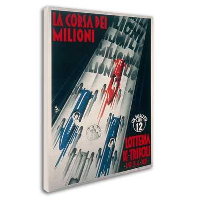 'Lottery of Tripoli Grand Prix 1934' Vintage Advertisement on Canvas - Wayfair