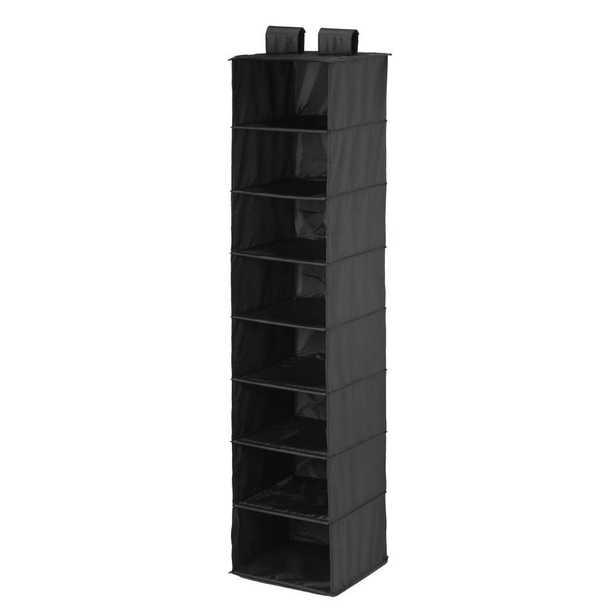 8-Shelf Hanging Black Organizer - Home Depot