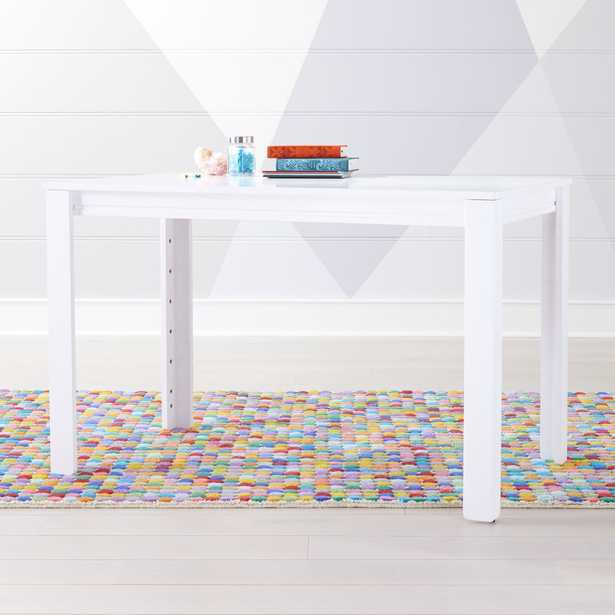 """Large White Adjustable Kids Table w/ 30"""" Legs - Crate and Barrel"""