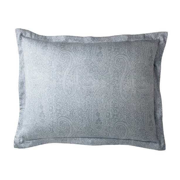 The Company Store Collins Blue Paisley 300-Thread Count Bamboo Standard Sham - Home Depot