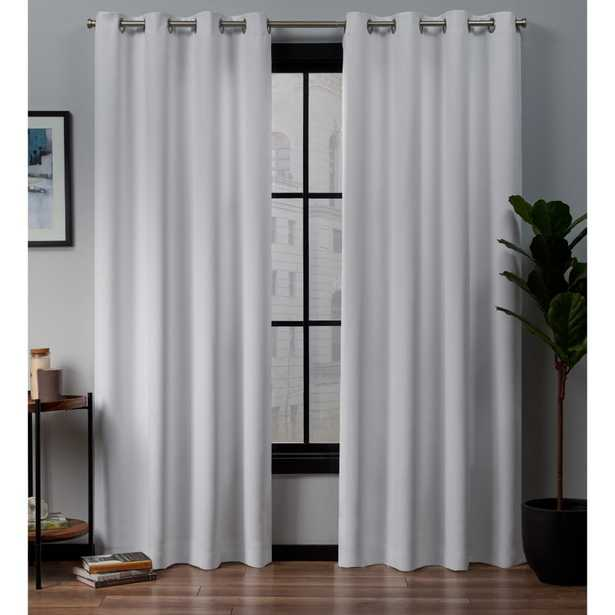 Exclusive Home Curtains Academy Total Blackout Grommet Top Curtain Panel Pair in White - 52 in. W x 96 in. L (2-Panel) - Home Depot