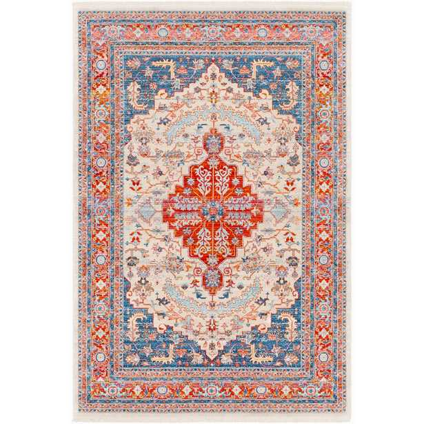 Artistic Weavers Theia Red/Navy (Red/Blue) 7 ft. 10 in. x 10 ft. 3 in. Oriental Area Rug - Home Depot