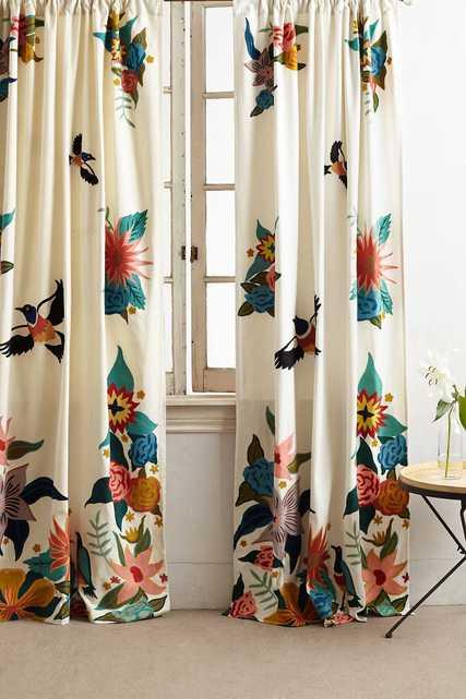 Soaring Starlings Curtain - Anthropologie