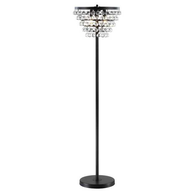 JONATHAN Y Jemma 60 in. Bronze/Clear Crystal/Metal LED Floor Lamp - Home Depot