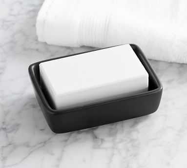 Matte Black Ceramic Soap Dish - Pottery Barn
