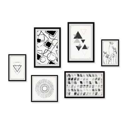 'Bold Geometry Hexaptych' - Wayfair