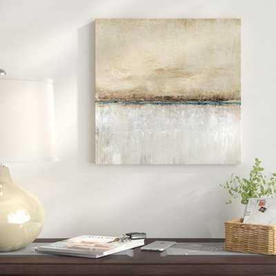 'Blue Line I' Painting Print on Wrapped Canvas - AllModern