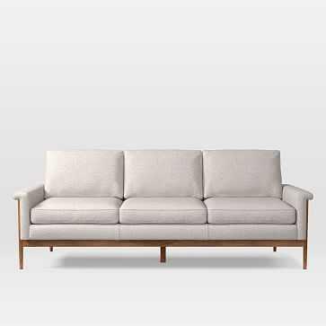 Leon 3 Seater Sofa, Twill, Wheat - West Elm