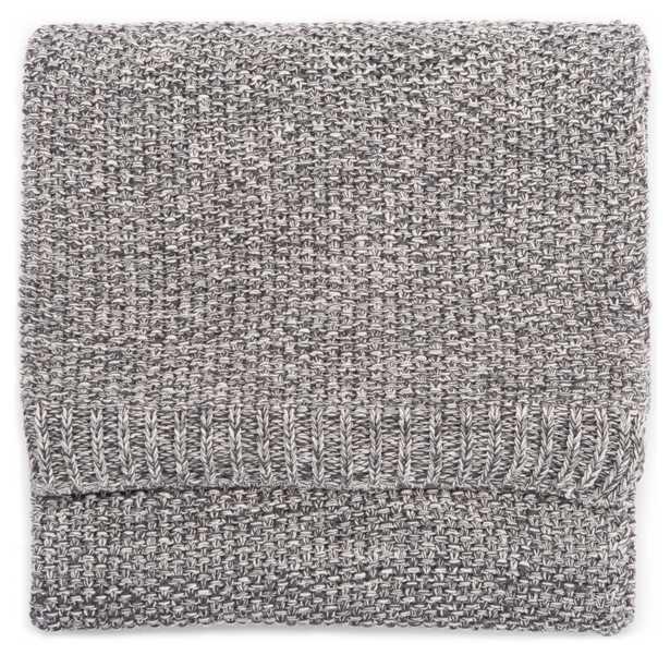 Avila Gray/ White Textured Throw (50X60) - Collective Weavers