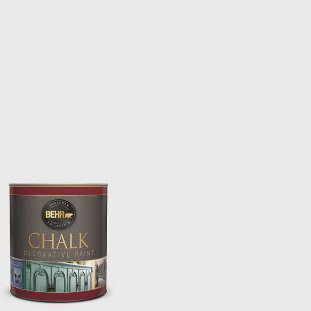 BEHR 1-qt. #BCP08 Tin White Interior Chalk Finish Paint, Whites - Home Depot
