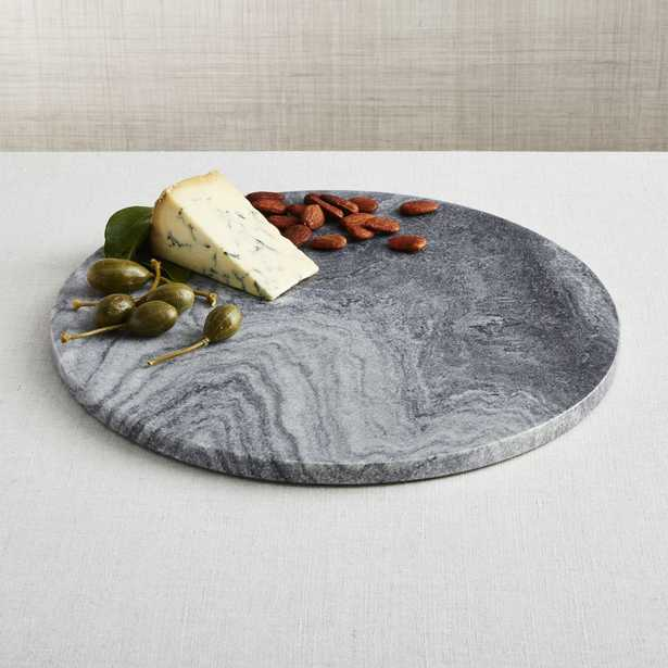 Hayes Black Marble Board - Crate and Barrel