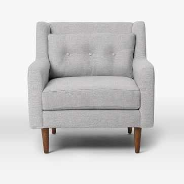 Crosby Armchair, Chenille Tweed, Frost Gray - West Elm