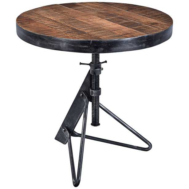 Braden Natural Wood and Black Adjustable Accent Table - Style # 47C81 - Lamps Plus