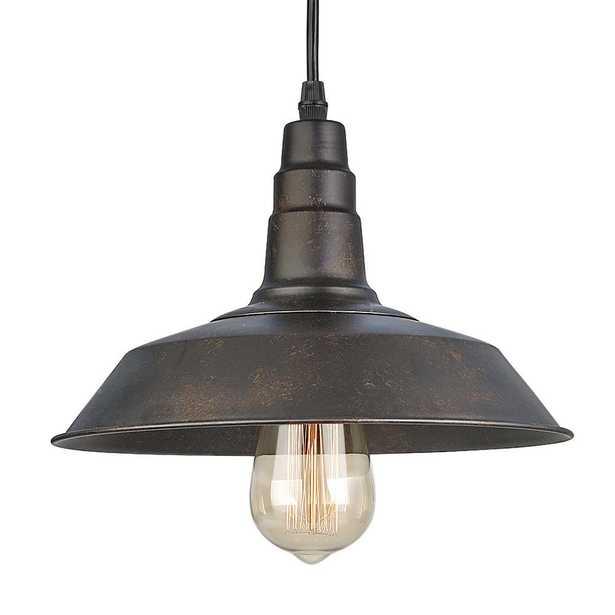LNC 1-Light Bronze Indoor Ceiling Warehouse Barn Pendant Light - Home Depot