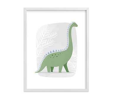 Happy Dino Wall Art by Minted(R), 18x24, White - Pottery Barn Kids