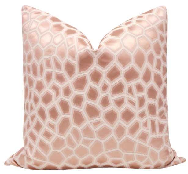"Faux Silk Safari // Blush - 18"" X 18"" - Little Design Company"