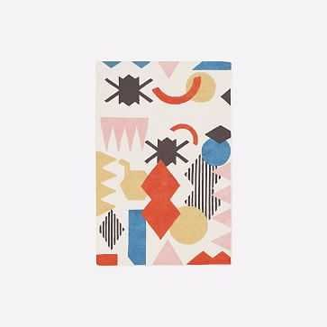 MTO Roar + Rabbit x Diego Olivero Shape Collage Rug, Multi, 4x6 - West Elm