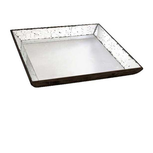 24 in. H x 24 in. W Clear Glass Roberto Tray - Home Depot